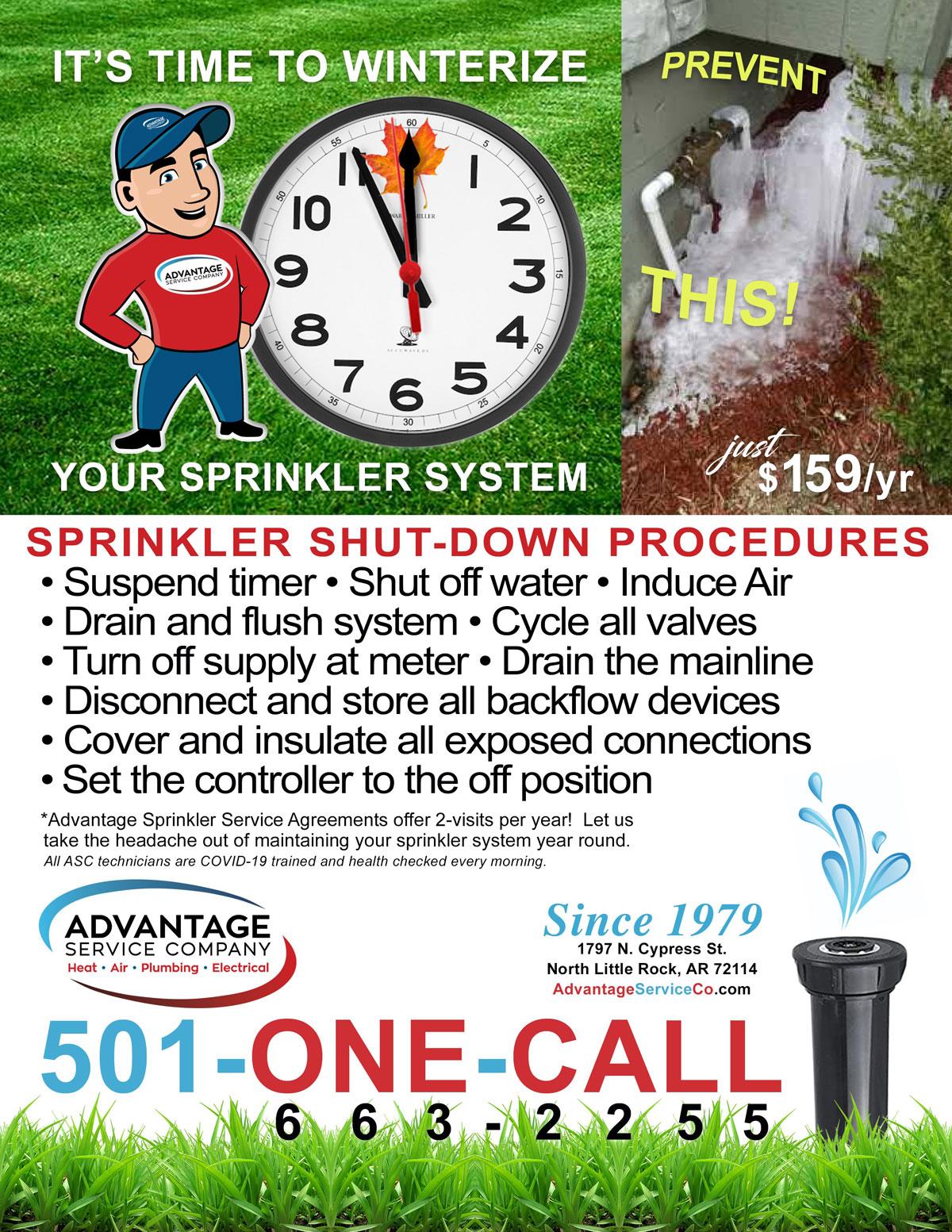 Sprinkler System Winter Visit